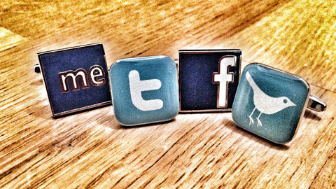 The Social Networks Cufflink Set