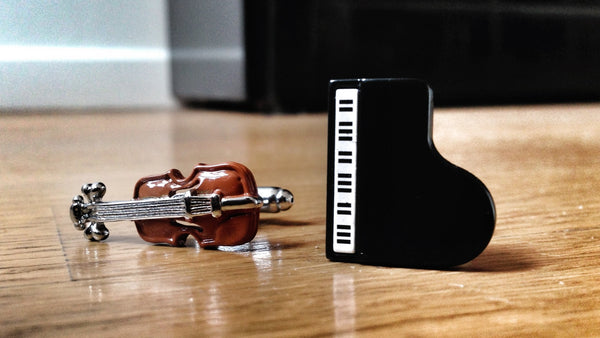 Violin and Piano Cufflinks