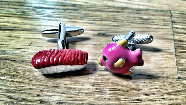 From Pink Tropical Fish to Appetizing Red Sushi Cufflinks