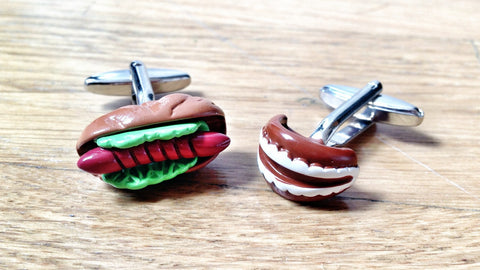 Hot Dog Contest Cufflinks
