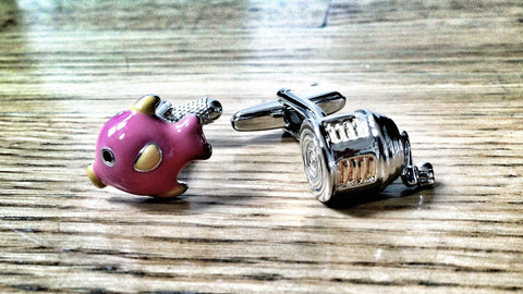 Fishing Pink Fishes Cufflinks