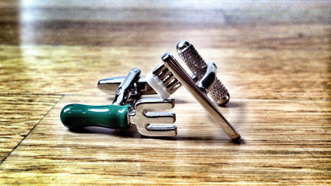 Fork and Toothbrush Cufflinks