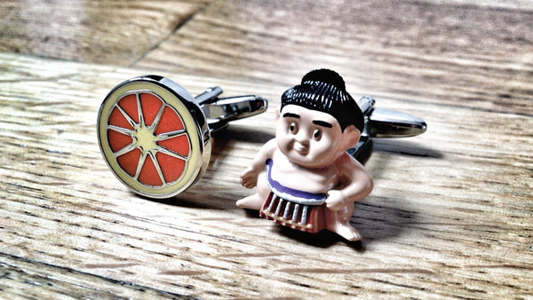 Slice of Sumo Cufflinks