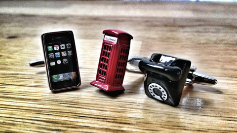 The History of the Phones Cufflink Set