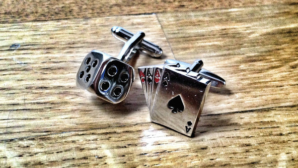 Dice and 4 Ace Cufflinks
