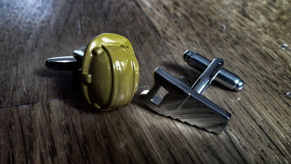 Hard Hat and Saw Cufflinks