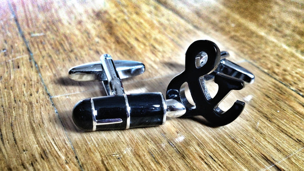 Fountain Pen and Ampersand Cufflinks