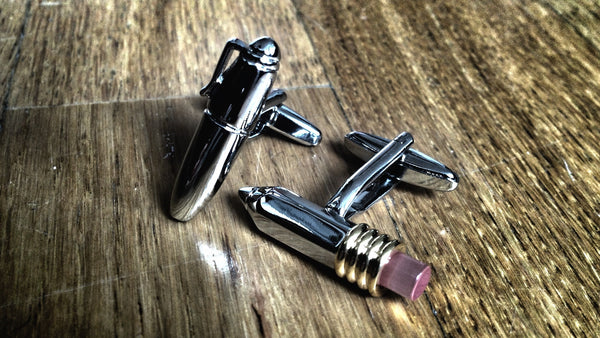 Ballpen and Pencil Cufflinks