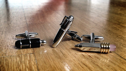 Author Cufflink Set
