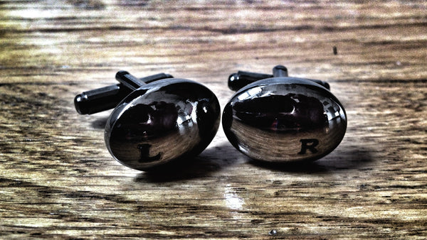 Gunmetal Left and Right cufflinks