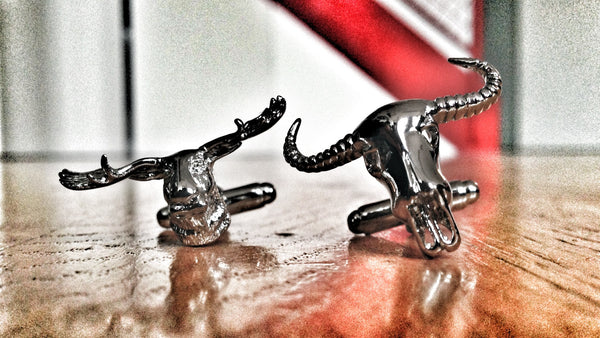 Stag and Bull Skulls cufflinks