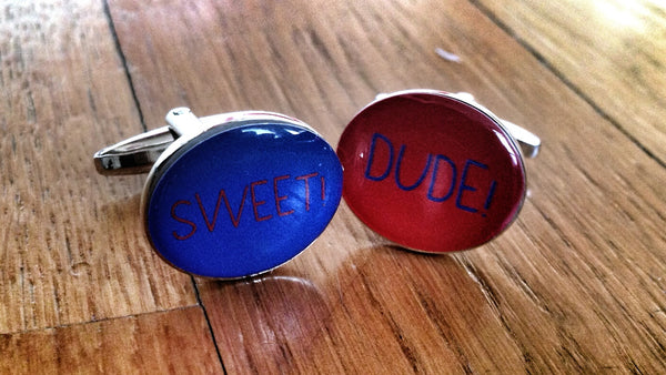 Dude! Sweet! Cufflinks