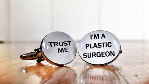 Trust me, I'm a Plastic Surgeon Cufflinks
