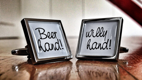 Beer Hand, Willy Hand Cufflinks