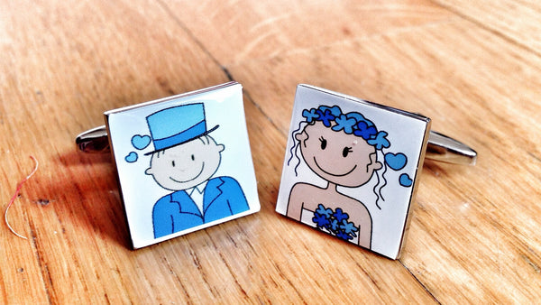 Cufflinks for Marriage in Blue