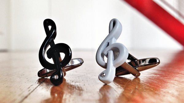 Lucky Charm Double Treble Cufflinks for Musicians