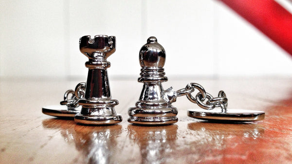 Bishop & Rook Chess Cufflinks