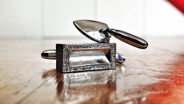 Bricklayers Trowel & Brick Cufflinks