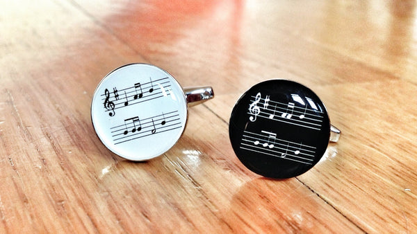 Music Score Cufflinks to Score