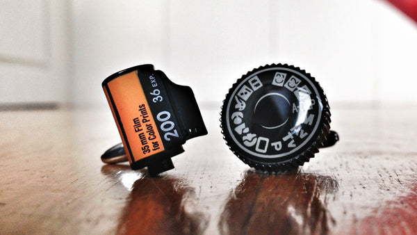 Camera Cufflinks for Photographers
