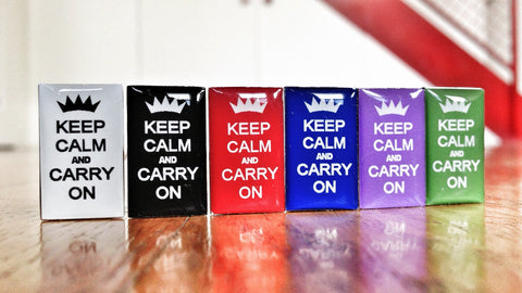 Keep Calm and Carry On Cufflink Set