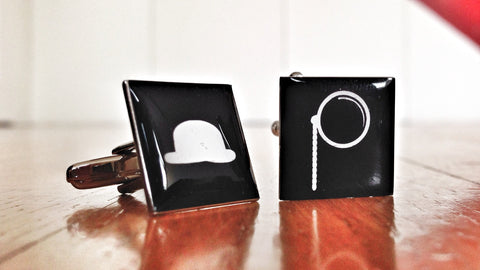 Gentleman's Bowler Hat & Monocle Cufflinks