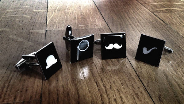 Cufflink Set for Hipsters, Surrealists & Gentlemen