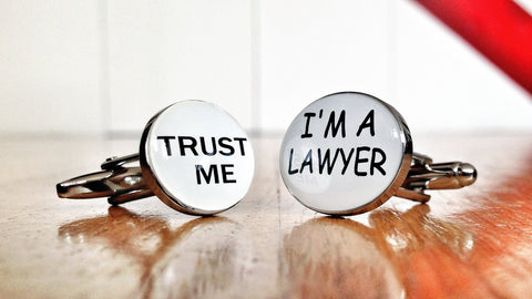 Trust Me, I'm a Lawyer Cufflinks