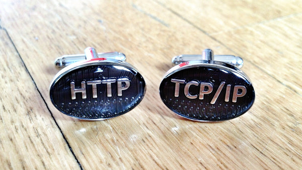 Tech Geek HTTP TCP/IP Cufflinks