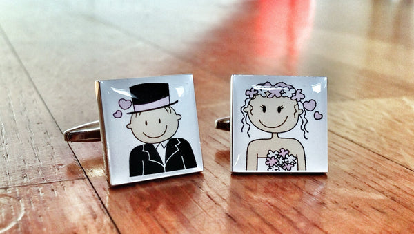 Lucky Wedding Charms for the Groom Cufflinks