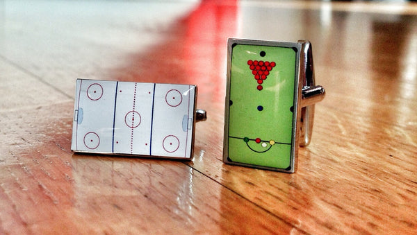 Billiard and Hockey Fan Cufflinks
