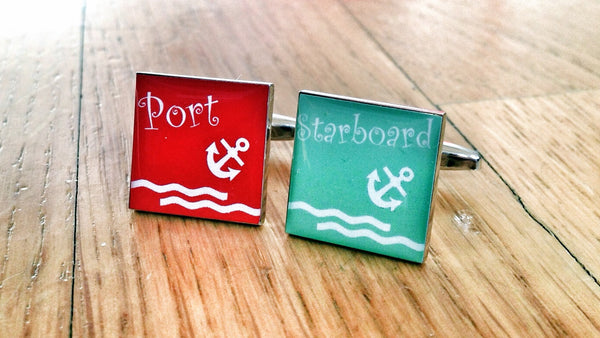 Sailor Port and Starboard Cufflinks