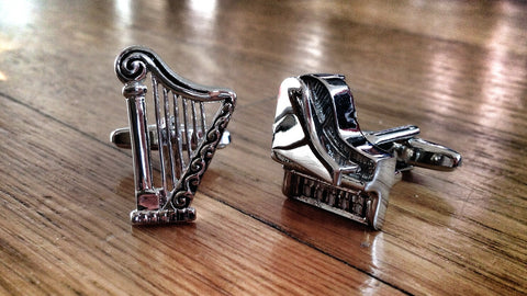 Harp and Piano Cufflinks