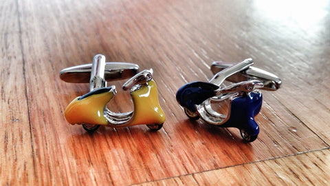 Yellow & Blue Vespa Cufflinks