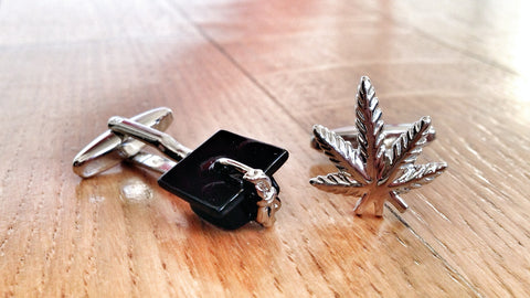 Diploma in Marijuana Cufflinks