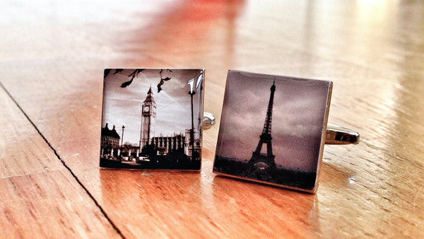 Vintage Big Ben & Eiffel Tower Cufflinks
