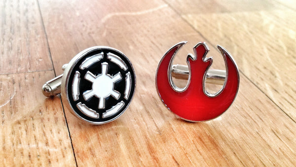 Star Wars Rebel Alliance vs Galactic Republic Cufflinks