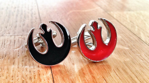 Star Wars Rebel Alliance Dual Red & Black Cufflinks