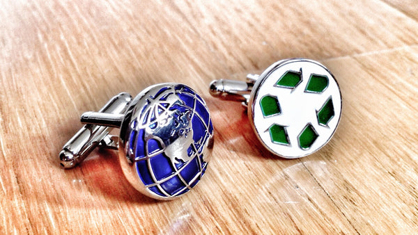 Green Recycle Cufflinks