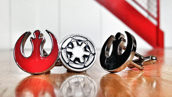 Rebel Alliance vs The Republic Star Wars Cufflink Set