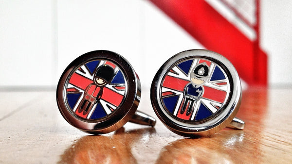 Mind the Authority, British Soldier & Policeman Cufflinks