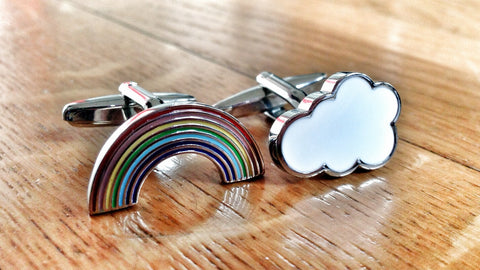 Sunshine Over the Rainbow Cufflinks