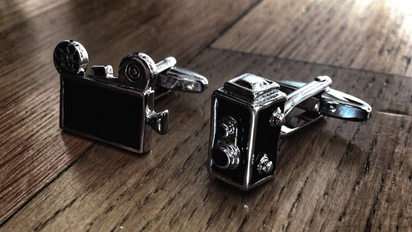 Vintage Photography & Video Camera Cufflinks