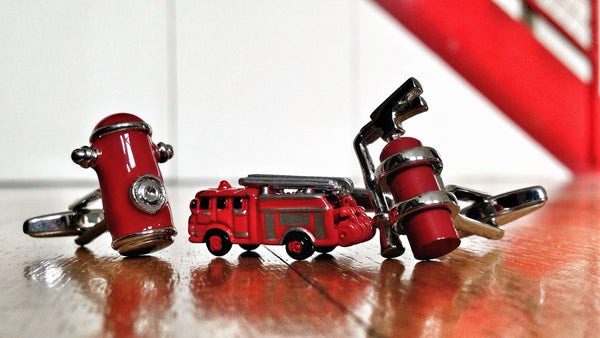 Firefighter Cufflink Set