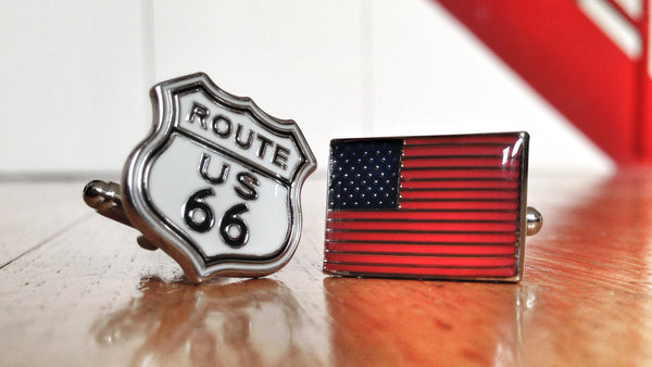 All American Route 66 Cufflinks