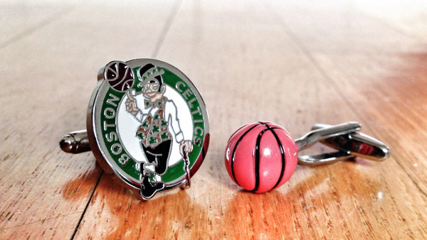 Boston Celtics Basketball Cufflinks
