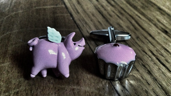 Eating Like a Pig Cufflinks