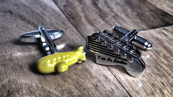 We All Live in A Yellow Submarine Cufflinks
