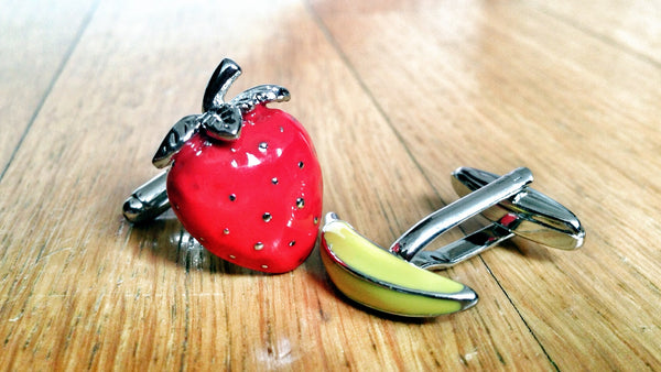 Fruity Strawberry & Banana Cufflinks