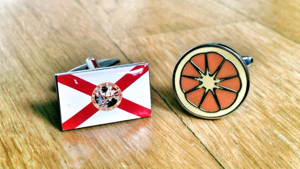 Florida Pride Orange Cufflinks